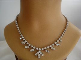 Classic Art Deco Revival Diamante Necklace    (SOLD)